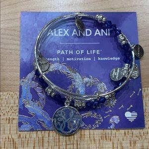 Alex and Ani Path of Life Charm Bangle Bracelet
